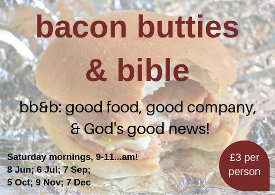 Men's Event! Bacon, Butties & Bible